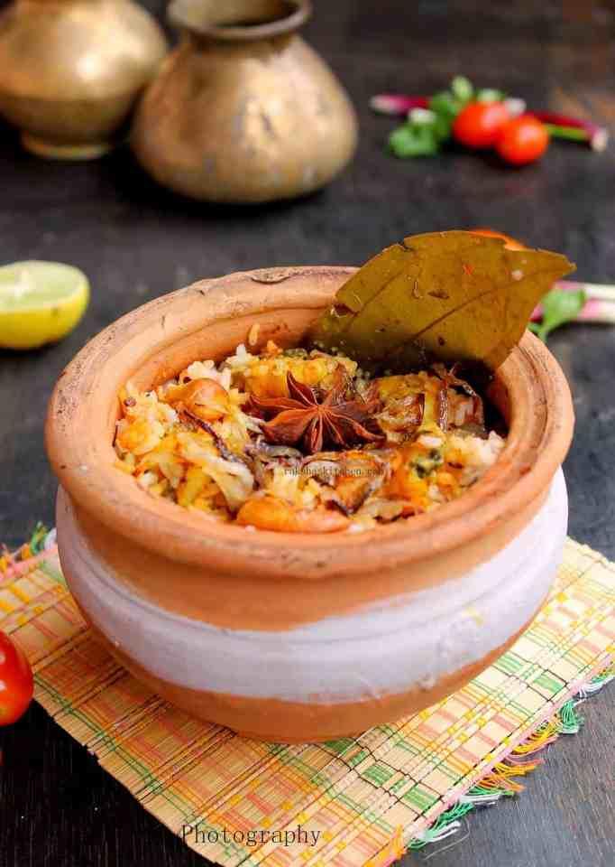 Prawns Biryani Recipe Image