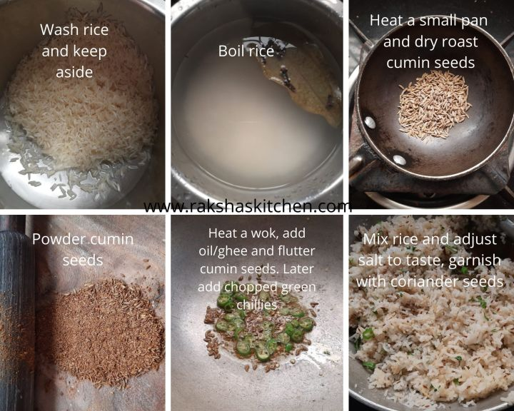 Steps to make rice with jeera flavour