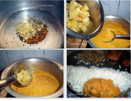 Goan raw mango curry step by step with images