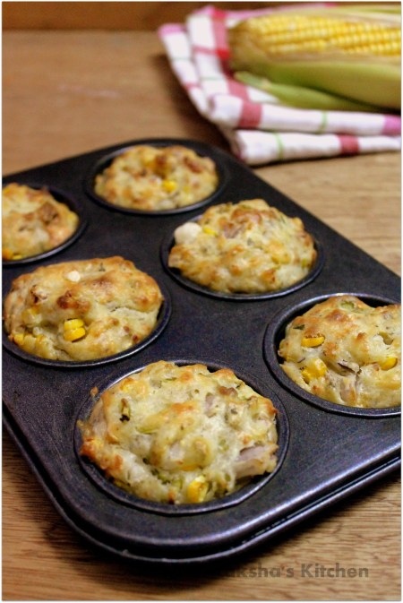 Savory corn cheese muffins