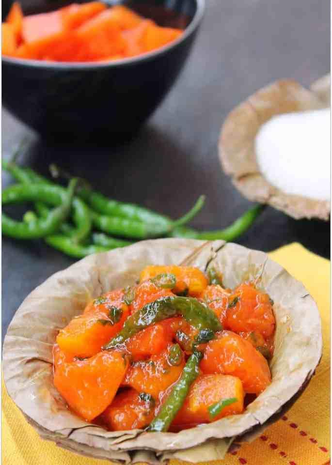 Papite Ki Chutney | Papaya Chutney – Special Navaratri Recipe