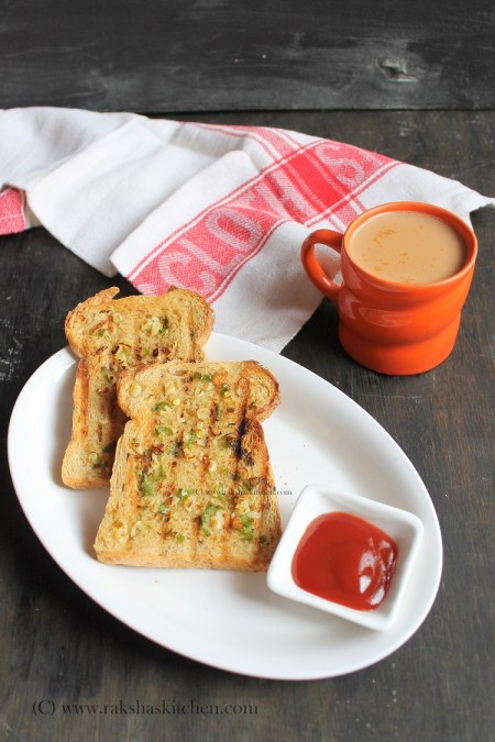 Chili garlic toast