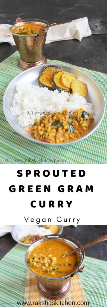 Mooga Gathi, muga gathi, sprouted green gram curry