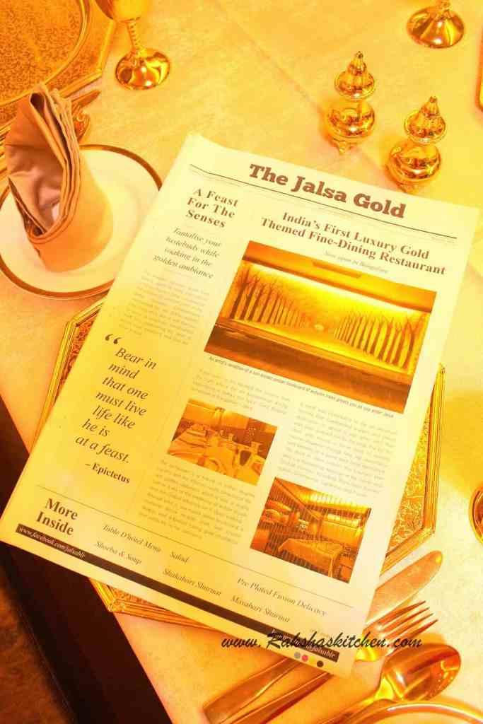 Jalsa Gold, Bangalore – A Restaurant Review