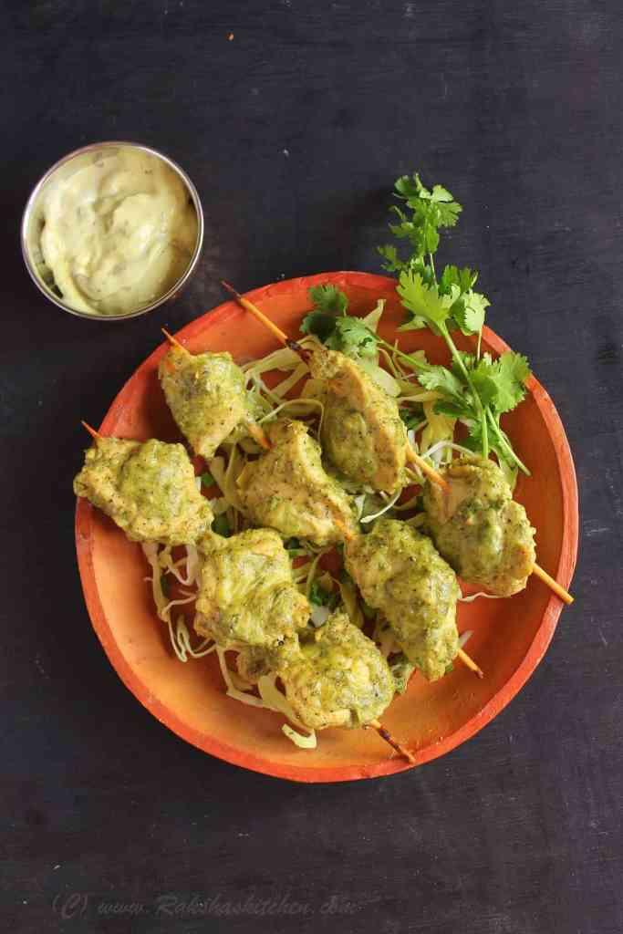 Murg Malai Kebab (Reshmi Kebab)