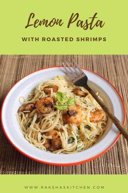 Lemon shrimp pasta