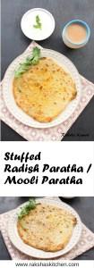 Stuffed Radish Paratha, Mooli Paratha