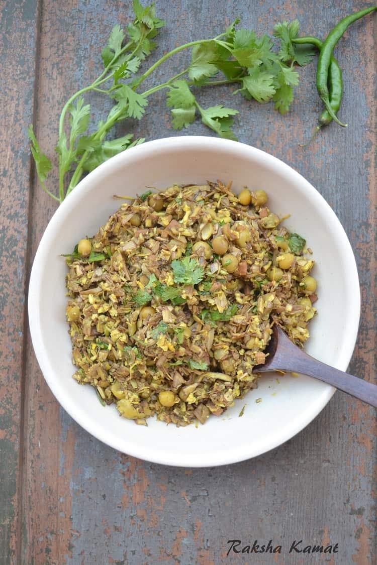 Kelphulachi Bhaji (Banana Blossom Stir Fry)