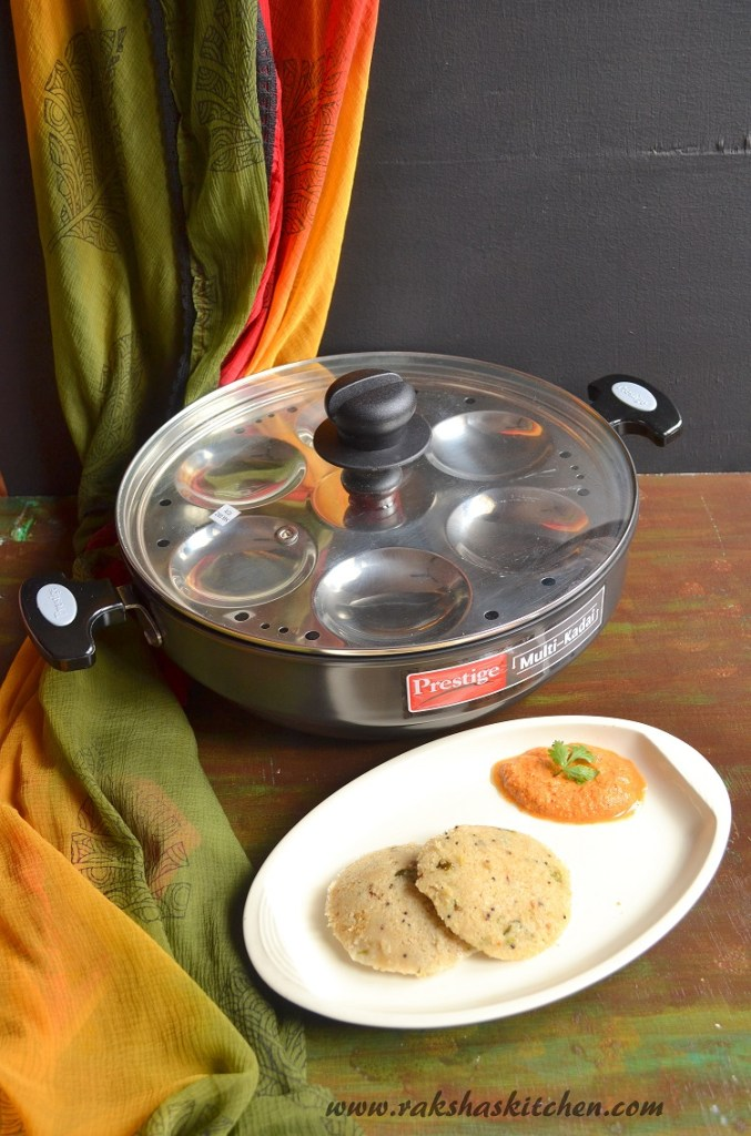 Oats Idli & A Review Of TTK Prestige Multi-Kadai