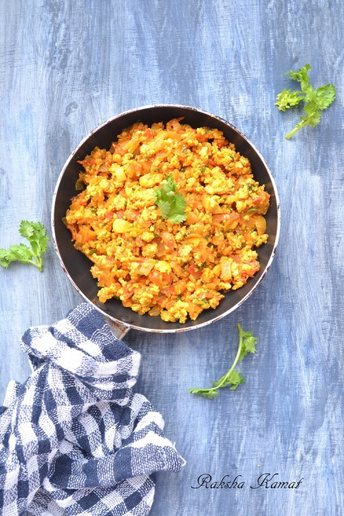 Paneer Bhurji, Spicy Cottage Cheese Crumble,Cottage cheese crumble
