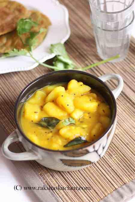 Restaurant style patal potato bhaji