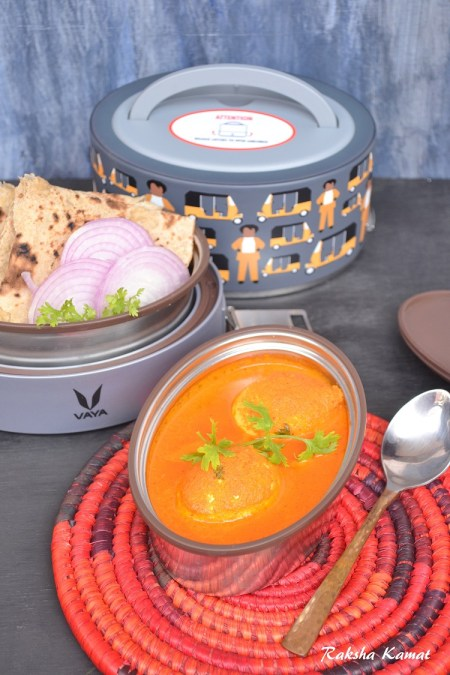 Egg Curry, Egg curry in coconut milk, Vaya tyffynLyte review, Vaya tyffyn review, Vaya tyffyn, kids tiffins, lunch box