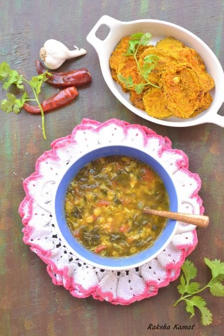 moringa dal, drumstick leaves dal, lentils and moringa curry, lentils and moringa, moringa and lentil soup, moringa curry, moringa recipe