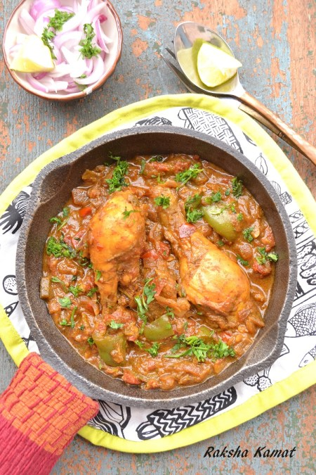 Skillet Chicken Legs Indian Style