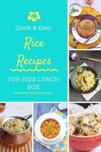 Quick And Easy rice recipes for kids lunch box