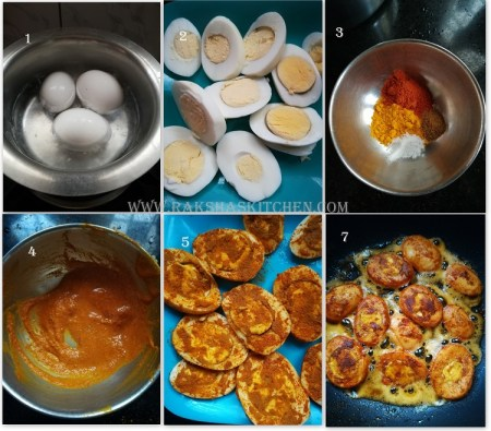 Spicy boiled egg fry - step by step pictures