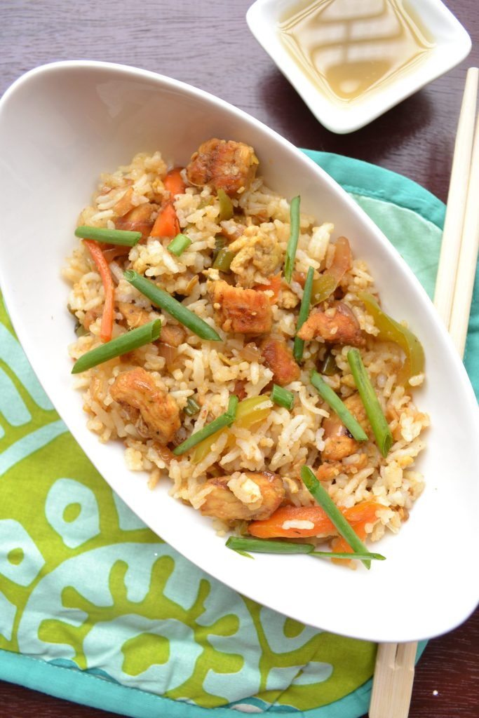 Chicken fried rice recipe image