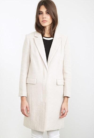 duster coat white