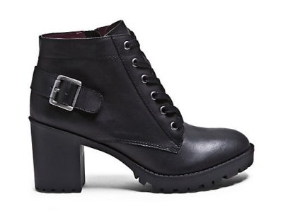 BOOTIES NICKEL BLACK-LEATHER