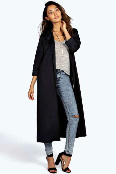 duster coat black
