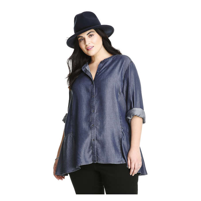 Joe Fresh Extended Sizes Peplum Shirt for Fall
