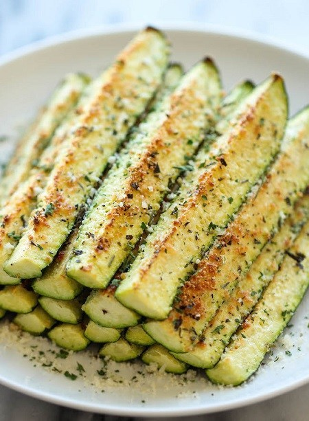 Damn Delicious BAKED PARMESAN ZUCCHINI