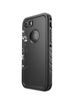 i-Blason Clayco Omni - Protective waterproof case for cell phone - thermoplastic polyurethane (TPU) - black - for Apple iPhone X
