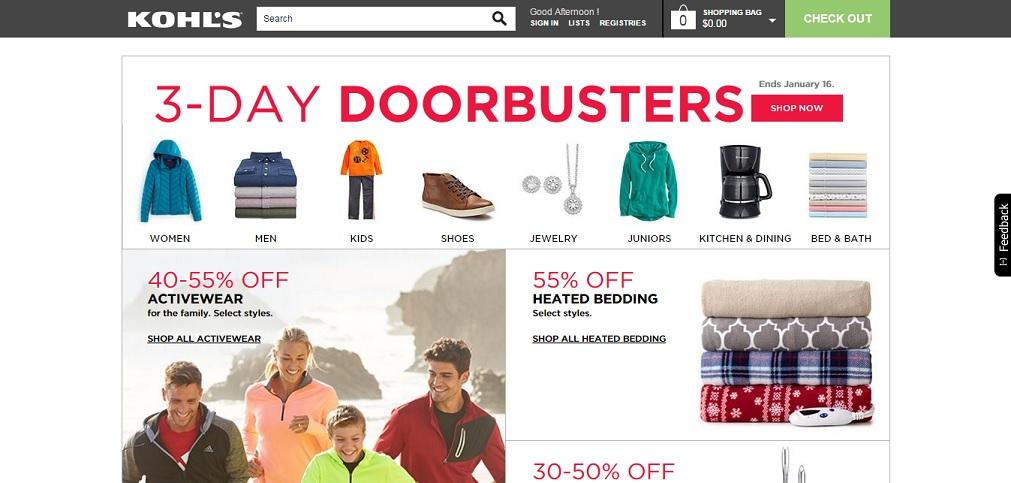 Kohl's Homepage