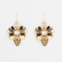 Scattered Stone Statement Earrings