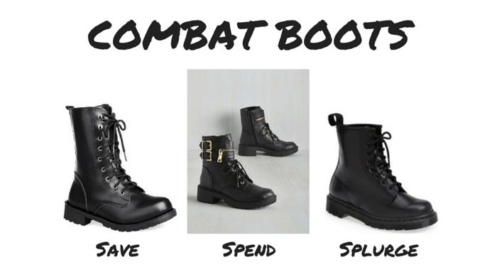 Save Spend Splurge 90s Combat Boots