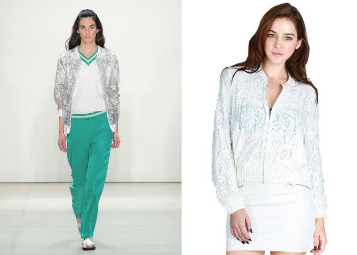 Nikibiki Women's Floral Lace Bomber Jacket