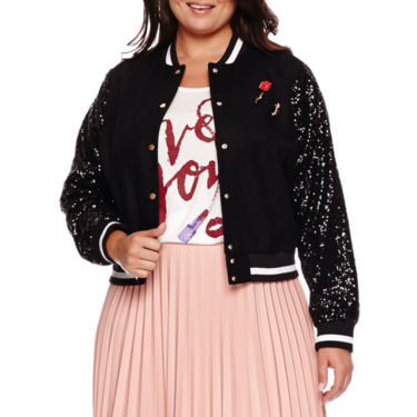 Black bomber jacket plus size