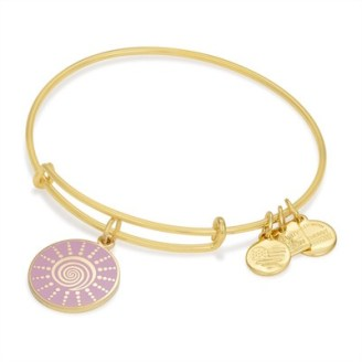 Alex and ani spiral charm bangle