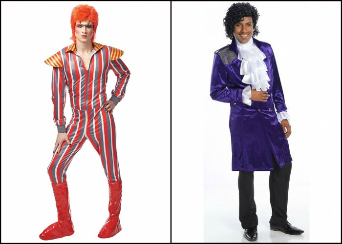 Prince and David Bowie Halloween costumes