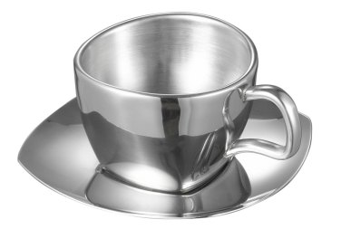 Visol Misto Stainless Steel Double Walled Cup With Saucer