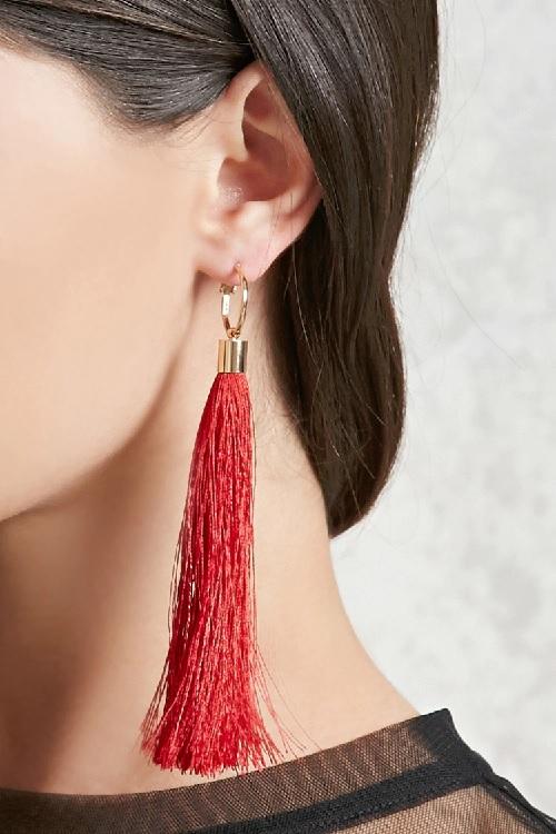 Red Tassel Earrings Forever 21