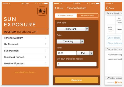 Wolfram Sun Exposure App
