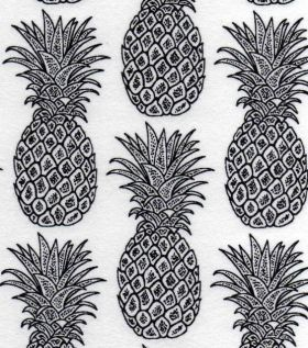 snuggle flannel pineapple print fabric