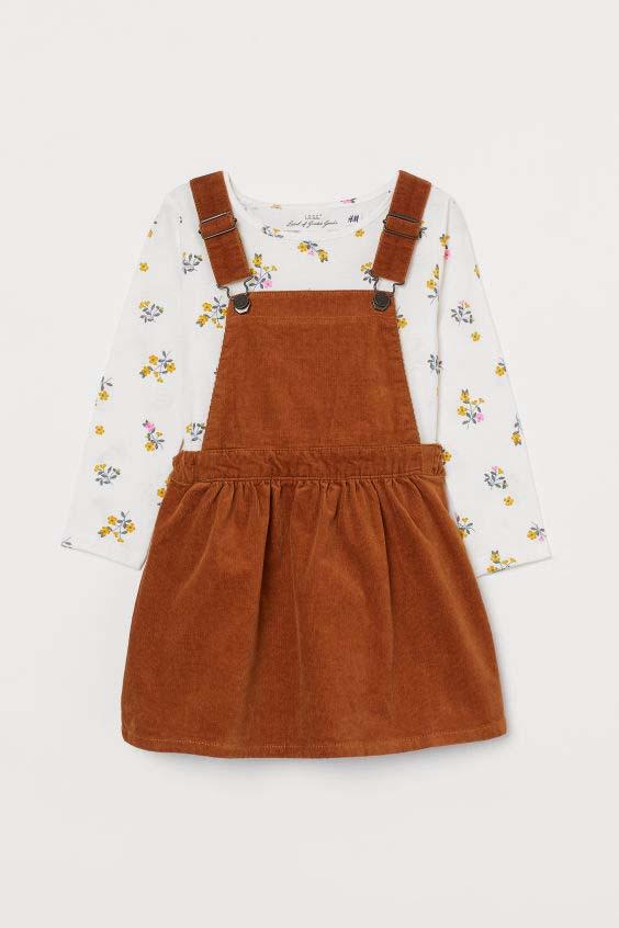 Bib Overall Dress and Top