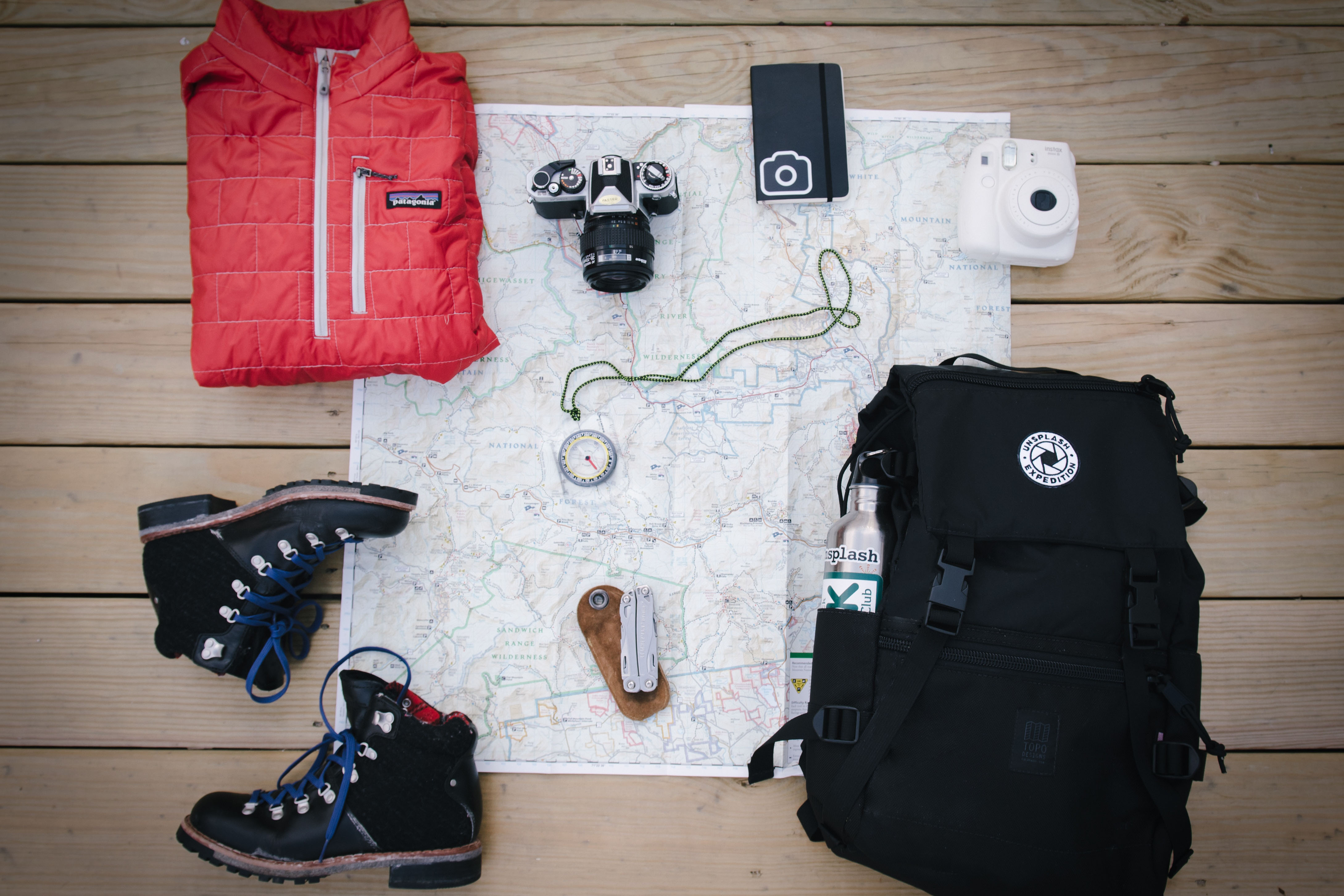 travel clothes and essentials