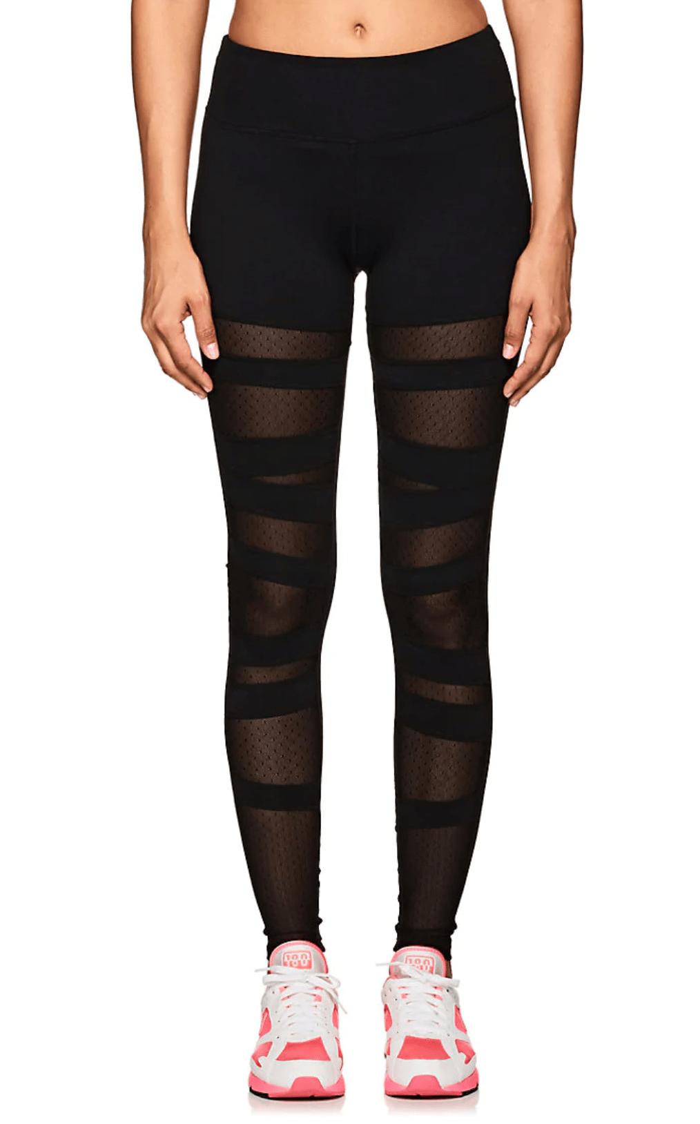 Electric Yoga Mesh-Inset Jersey Leggings