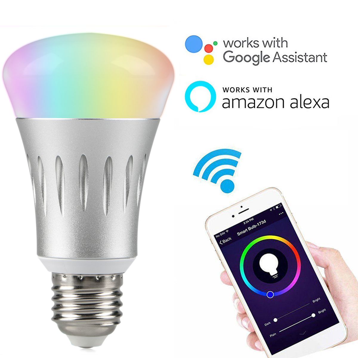 TSV E27 Smart Light Bulb, 7W Color LED