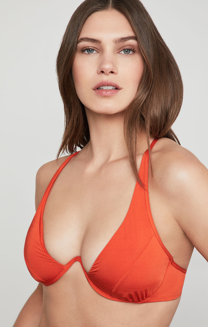 BCBG Strappy Underwire Bikini Top