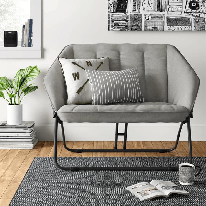 Double Hexagon Chair Gray