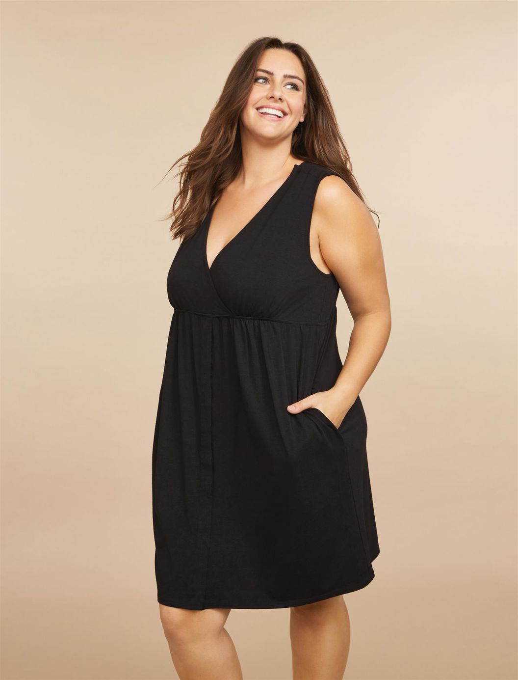 Plus Size 3 In 1 Labor, Delivery And Nursing Gown