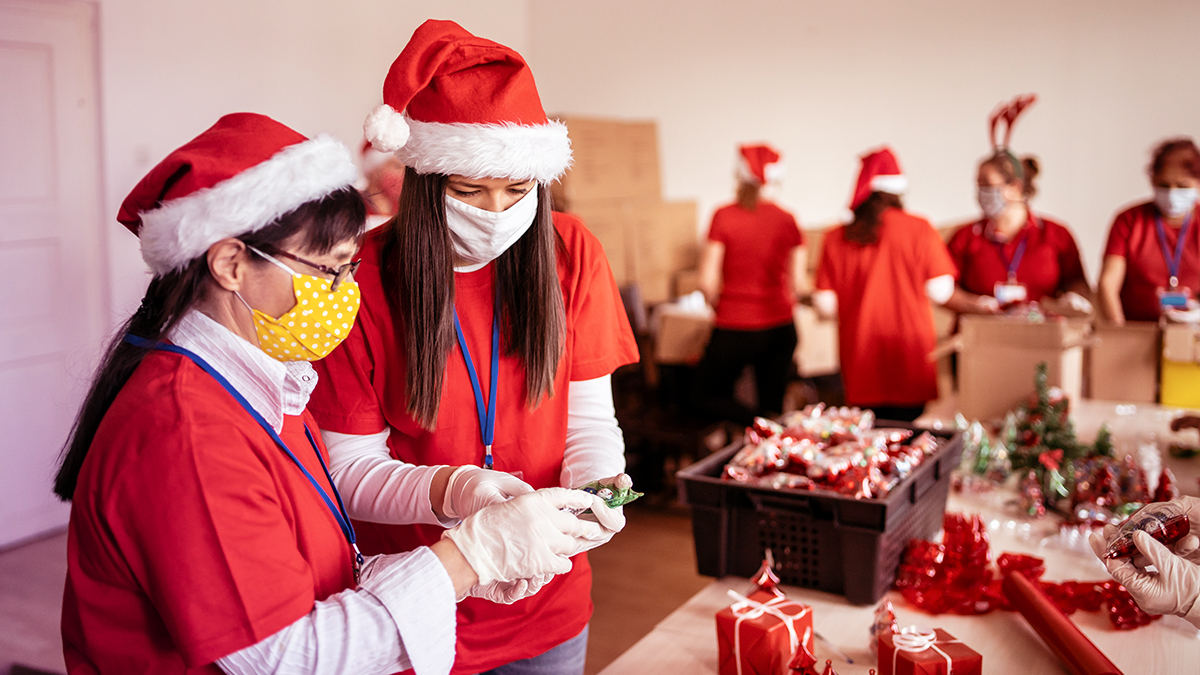 Charity work during the holidays