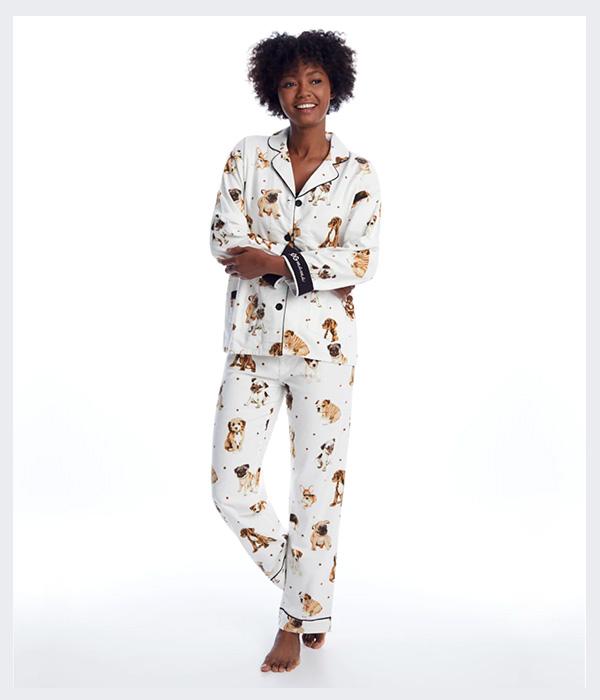 P.J. Salvage Dog Mama Flannel Pajama Set