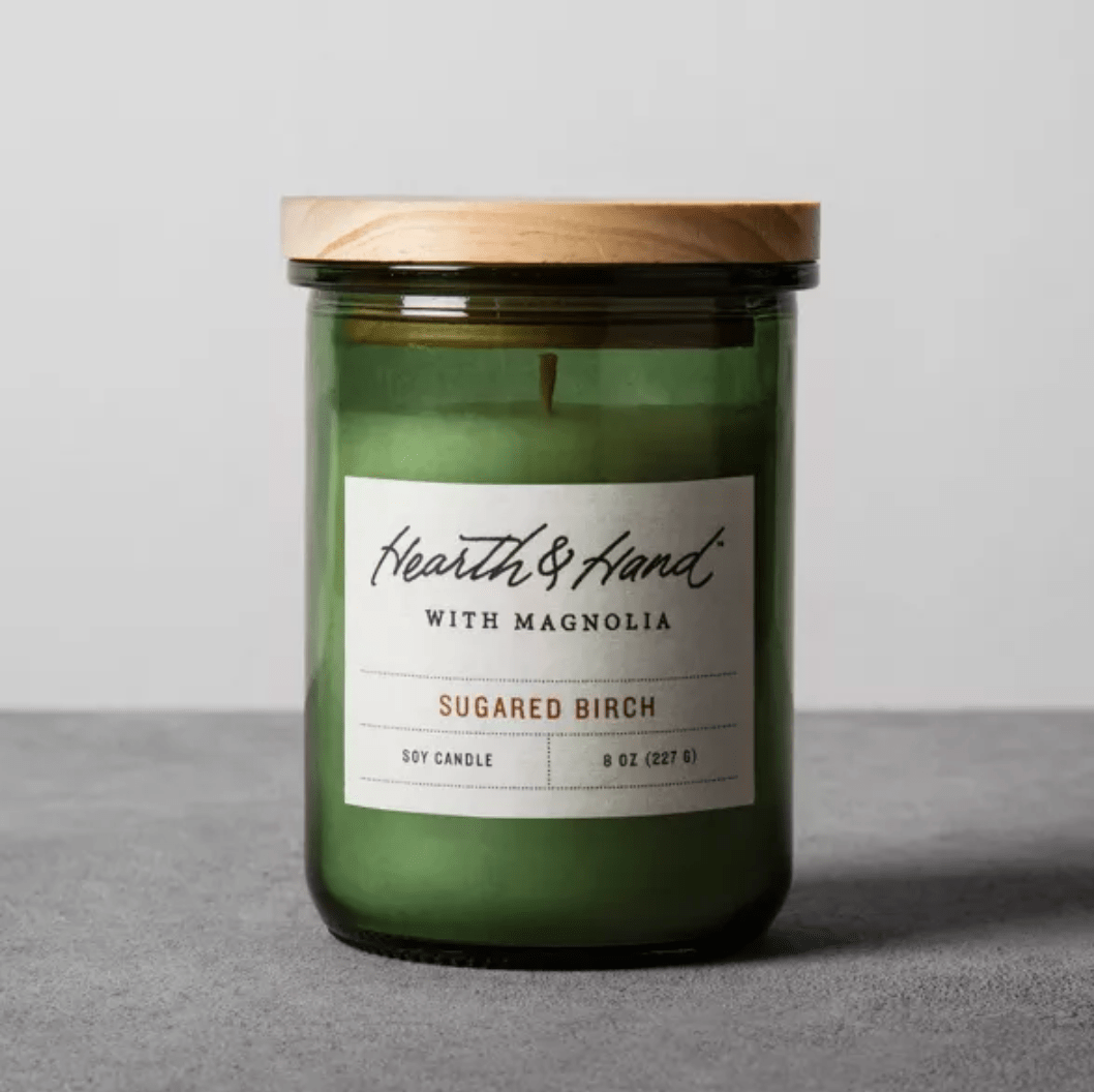 8oz Lidded Jar Container Candle Sugared Birch - Hearth & Hand™ with Magnolia