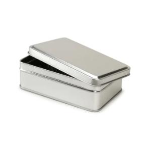 Darice® Small Rectangular Metal Tin with Lid, Silver