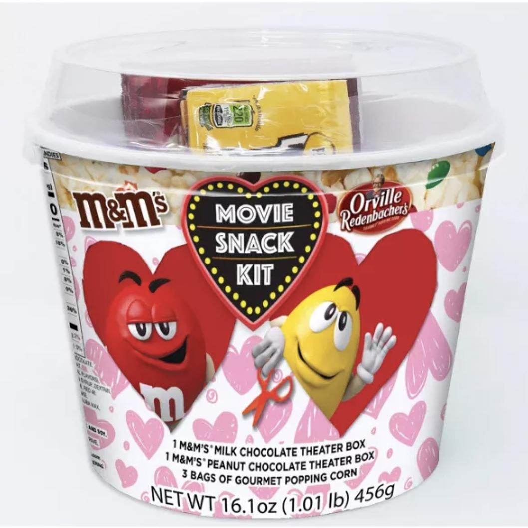 CandyRific Valentine's Day M&M's Movie Popcorn Bucket